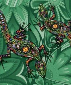 Fototapet med motivet: ナdlor Blommor Abstrakt Färger