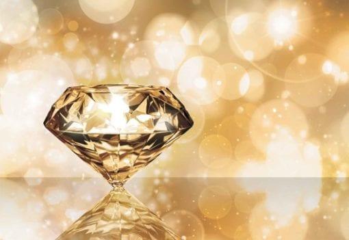 Fototapet med motivet: Gem Diamant Guld