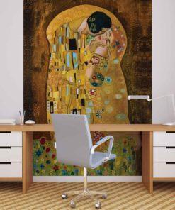 Fototapet med motivet: Gustav Klimt Art Kyss