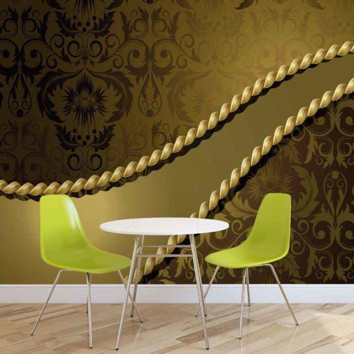 Fototapet med motivet: Guldigt dekor mönster