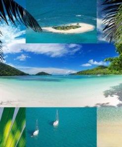 Fototapet med motivet: Tropisk Strand Scen