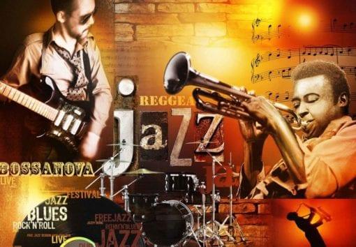Fototapet med motivet: Jazz Retro Music Blås