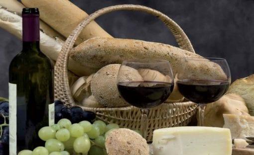 Fototapet med motivet: Vin och bröd
