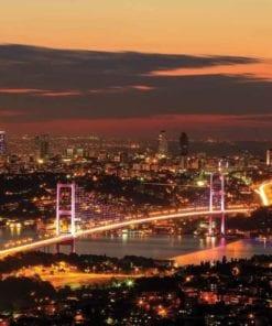 Fototapet med motivet: Stadshorisont Istanbul Bosphorus