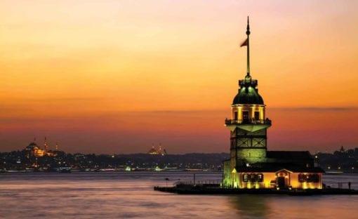 Fototapet med motivet: Istanbul Stad Urban Solnedgång