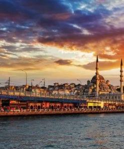 Fototapet med motivet: Istanbul Stad Solnedgång