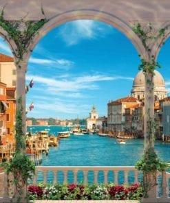 Fototapet med motivet: Bågar Venedig Italien