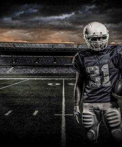 Fototapet med motivet: Amerikansk fotboll Stadium