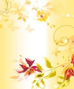 Fototapet med motivet: Blommor Design