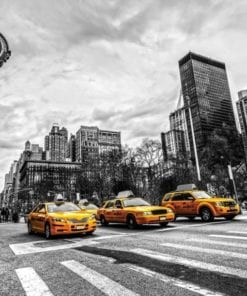 Fototapet med motivet: New York Cabs