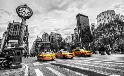 Fototapet med motivet: New York Cabs