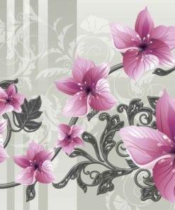 Fototapet med motivet: Blomma Blommönster