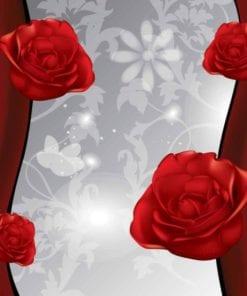 Fototapet med motivet: Blommor BlomRosorMönster