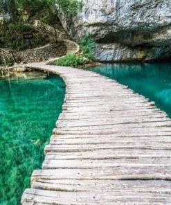 Fototapet med motivet: Träbro i lagunen