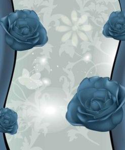 Fototapet med motivet: Blommor Blommönster