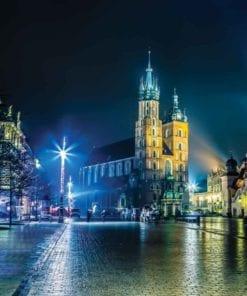 Fototapet med motivet: Stadshorisont Krakow