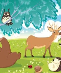 Fototapet med motivet: Djur i skogen