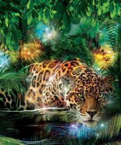 Fototapet med motivet: Leopard I Djungel