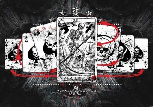Fototapet med motivet: Kort Skalle Tarot