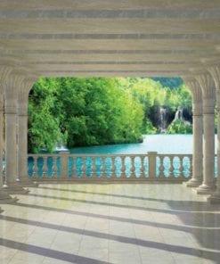 Fototapet med motivet: Tropisk sjö pelare