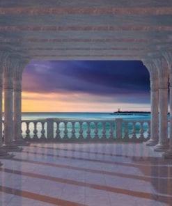 Fototapet med motivet: Havsutsikt genom valv