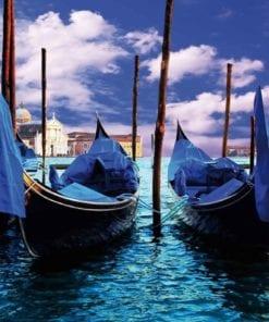 Fototapet med motivet: Stad Venedig Gondoler