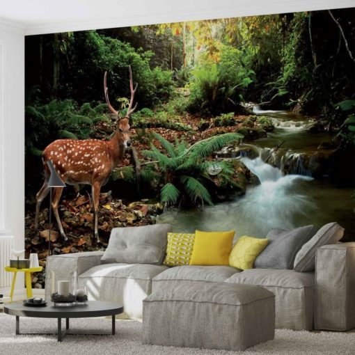 Fototapet med motivet: Rådjur i skogen
