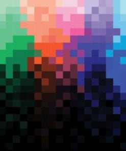 Fototapet med motivet: Regnbåge Mönster Pixel