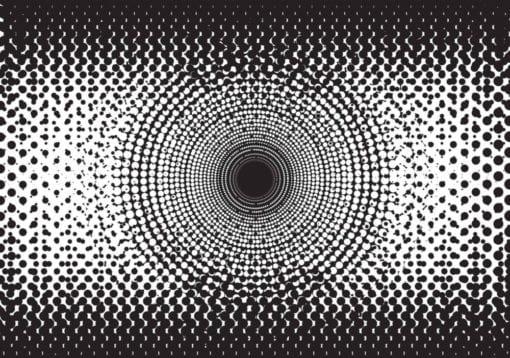 Fototapet med motivet: Abstrakt Punkter svartvitt