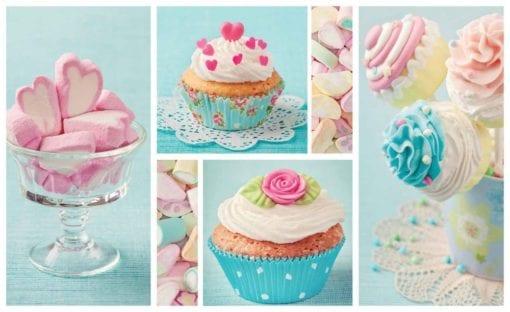 Fototapet med motivet: Cupcakes
