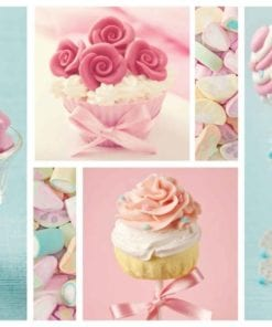 Fototapet med motivet: Cupcakes Marshmallows