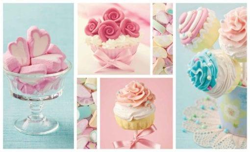 Fototapet med motivet: Cupcakes Marshmallows