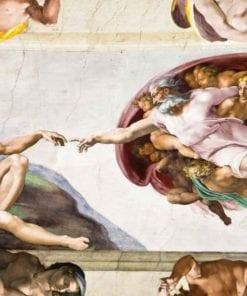 Fototapet med motivet: Creation Adam Art Michelangelo