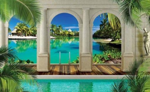 Fototapet med motivet: Tropisk strand