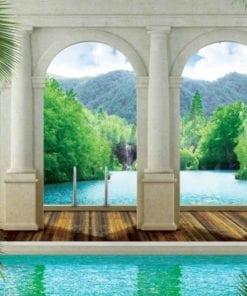 Fototapet med motivet: Tropisk Pool Bågar