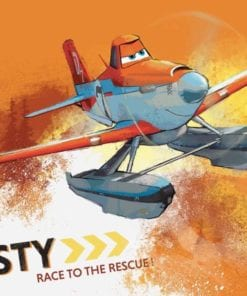 Fototapet med motivet: Disney Flygplan Dusty Crophopper
