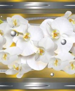 Fototapet med motivet: Orkidéer Abstrakt