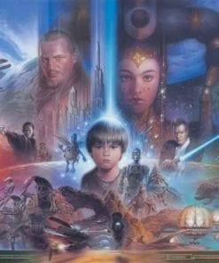 Fototapet med motivet: Star Wars Young Anakin drottning Amidala