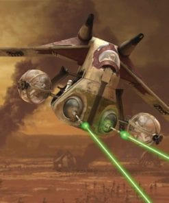 Fototapet med motivet: Star Wars Republic Attack GunSkepp