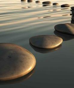 Fototapet med motivet: Stens Ripples Zen