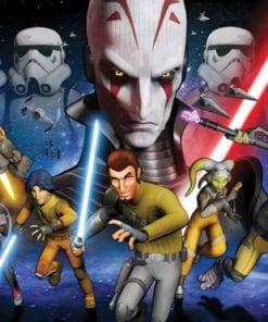 Fototapet med motivet: Star Wars Rebels Kanan Inquisitor
