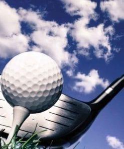 Fototapet med motivet: Golfboll Himmel moln