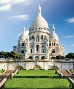 Fototapet med motivet: Stad Basilica Sacred Hjärta Paris