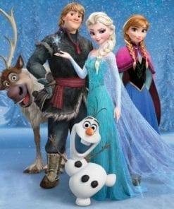Fototapet med motivet: Disney Frost Elsa Anna Olof Sven
