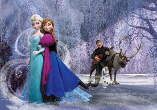 Fototapet med motivet: Disney Frost Elsa Anna