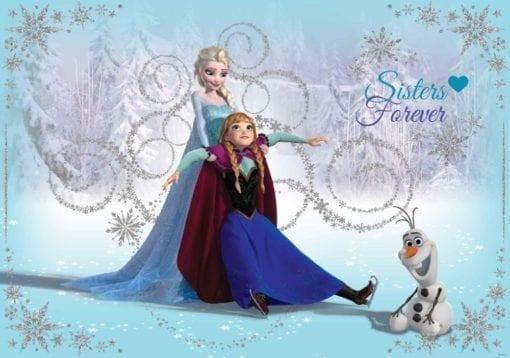 Fototapet med motivet: Disney Frost Elsa Anna Olof