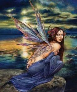 Fototapet med motivet: Fairy Hav blommor Wings