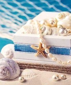Fototapet med motivet: Sand Skal Pearls Coffer