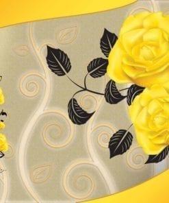 Fototapet med motivet: Ross Gula blommor Abstrakt