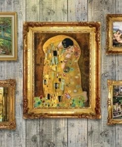 Fototapet med motivet: Målningar Konst lyx trävägg